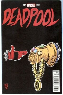 Deadpool #45 1:50 Run The Jewels Skottie  Young Variant Cover Nm Rare