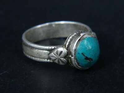 Antique Silver Ring With Stone C.1900 AD ###R589###