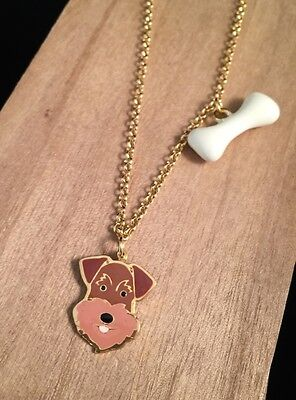 Airedale Necklace Welsh Terrier Necklace Airedale Welsh Terrier Dog Jewelry