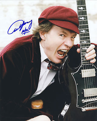 AC/DC Hand Signed By Angus Young Promotional 10x8