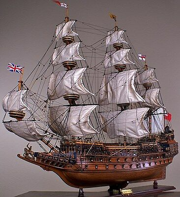 """SOVEREIGN OF THE SEAS 43"""" wood model ship large scale sailing tall British boat"""