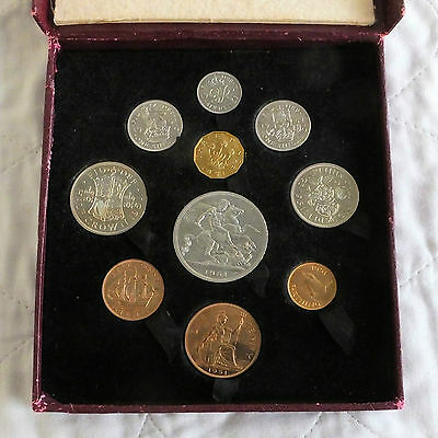 UK 1951 FESTIVAL OF BRITAIN 10 COIN  PROOF YEAR SET - red box