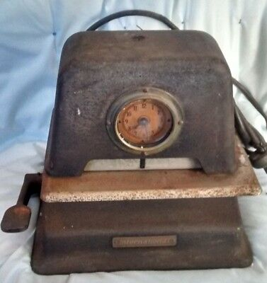 Antique Cast Iron IBM 1919 Business Machine Time Clock