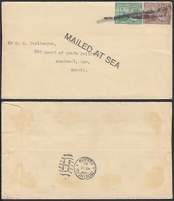 Trinidad & Tobago 1932-  Sea mail cover and used stamps to Canada.(G23091) A6202