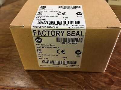 Allen Bradley 1794-TB3 A. See A. Factory Sealed