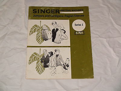 Knitting Machine Pattern Book Singer  Series 1  5Ply See Photos