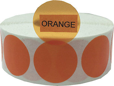 Transparent Circle Dot Stickers, 1 Inch Round, 500 Labels Total, 7 Color Choices