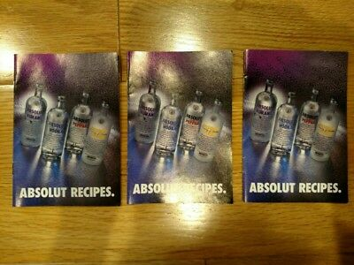 3 Absolut vodka recipe booklets