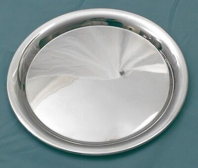Lunt Sterling Plain Round Tray Sterling Silver