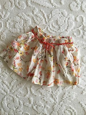 Girls zara floral shorts 18-24 months