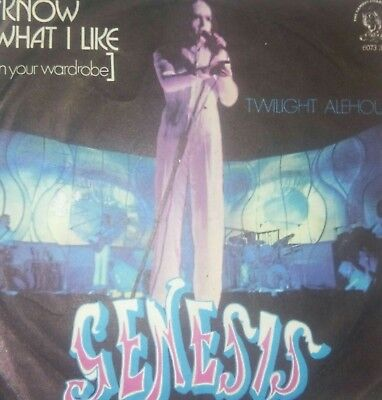 Genesis I Know What I Like/twilight Charisma 6073 347 1974 Ita Only Cover