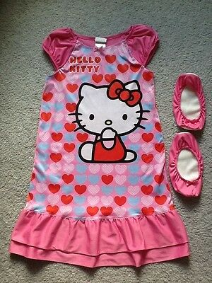 Girl's Hello Kitty  Nightgown Size 8 With Booties