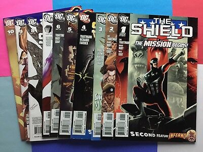 The Shield 1, 2, 3, 4, 5, 6, 7, 8, 9, 10 Complete 1-10  Red Circle DC Comics