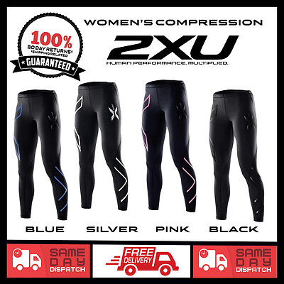 WOMENS 2XU COMPRESSION PANTS | Long Tights Pants Skins | SIZE MED LARGE