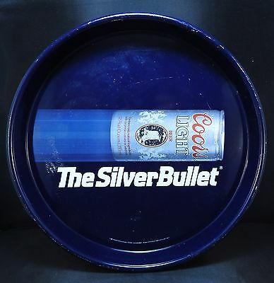 Coors Light The Silver Bullet Beer Metal Serving Tray 1987
