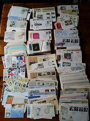 Bulk Lot FDC Envelopes All Damaged in some way.  Boxful.  Mostly Doubles Seconds