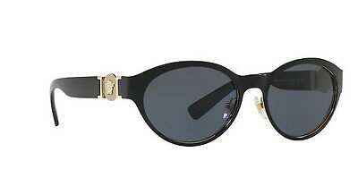316a46664c8 NWT Versace Sunglasses VE 2179 1291 87 Black Pale Gold   Gray 55 mm 129187