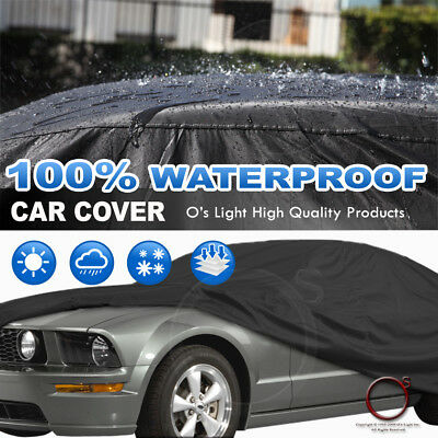 Water Resistant SOFT COTTON AUTO Black Car Cover(483X178X120)CM CHEVROLET