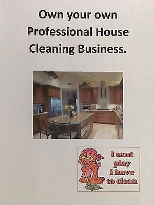 Business opportunity to own your own Professional House Cleaning Business