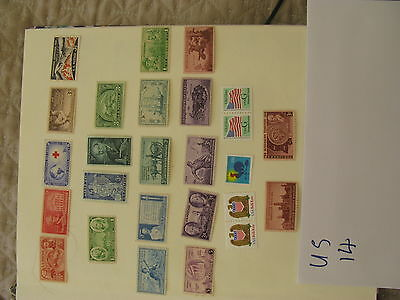 stamps United States - 25  Mint  unHinged old  (14C)
