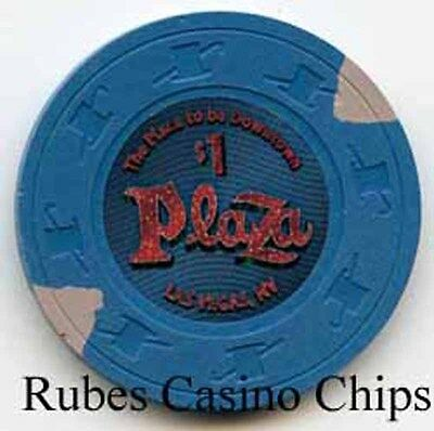 1.00 Chip from the Plaza Casino in Las Vegas Nevada Small Inlay