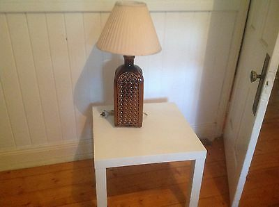White small modern lamp table & Retro lamp
