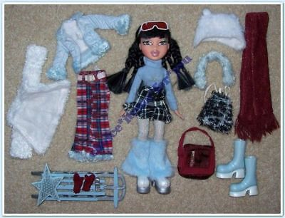 BRATZ MGA DOLL JADE WINTERTIME WONDERLAND 1st ed 2003 ORIGINAL CLOTHING + ACCESS