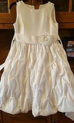 American Princess Girls Communion, Flower Girl White Dress Sz. 8 Zipper Broke