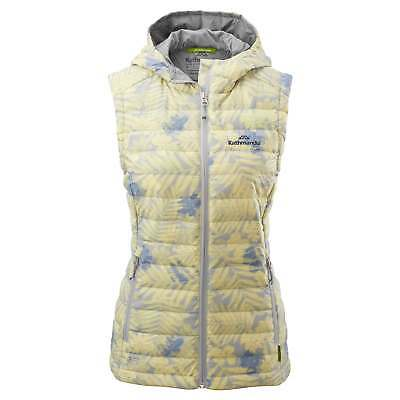 Kathmandu Heli Womens Lightweight Duck Down Warm Insulated Puffer Vest v2 Print