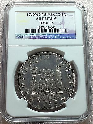 1769 MO MF Mexico Carolus III Colonial Silver 8 Reales NGC AU Details Rare