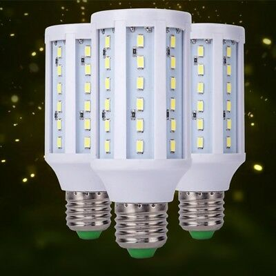E27 Base Socket Screw LED Corn Light Lamp Bulb Outdoor Camp Home Solar DC12V