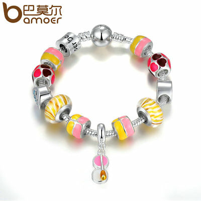 Bamoer European 925 Silver Charm Bracelet Dream paradise For Women DIY Jewelry