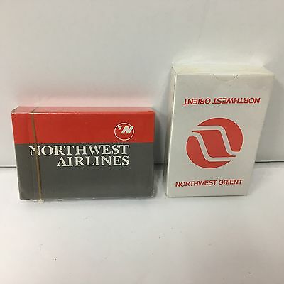 Lot Of Northwest Airlines NW Orient Decks Of Playing Cards In Sealed Box