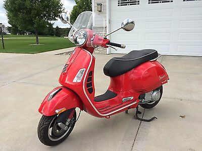 2010 Other Makes  2010 Vespa Piaggio GTS 300 Scooter Red VERY LOW MILES!!!