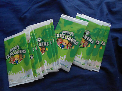 11 Woolworths world Explorers Trading Cards Unopened