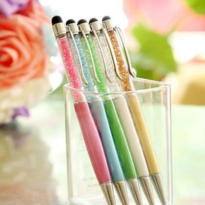 2-in-1 Crystal Touch Screen Stylus Write Pen For iPhoneiPad Tablet Universal Hot