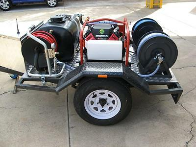 "5000psi 23lpm Spitwater Jetter trailer package mini reel  60m 1/4"" & 3/8"" hose"