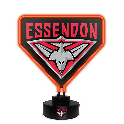 Essendon Bombers AFL NEON Light up Sign Man Cave Bar Fathers Day Christmas Gift