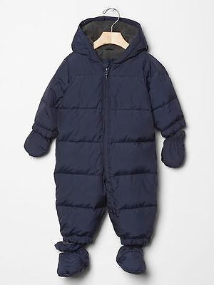 New Baby Gap Baby Puffer Jacket Navy Blue Size 18-24 Months