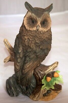 Great Horned Owl collectible porcelain figurine