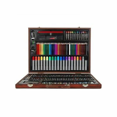 167 Piece Art Kit Set Complete Paint Drawing Stylish Wooden Storage Case
