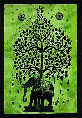 Hippie Indian Wall Hanging Elephant tree Cotton Poster Home Decor Tapestry Decor