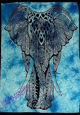 Indian Wall Hanging Elephant Cotton Poster Home Decor-Tapestry Ethinic Bohemian