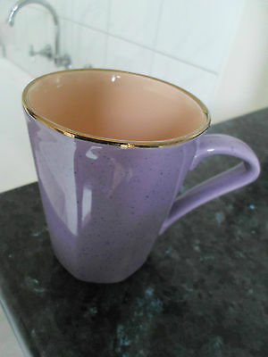 Staffordshire Made In England Purple & Salmon Color Coffee Mug In Vgc