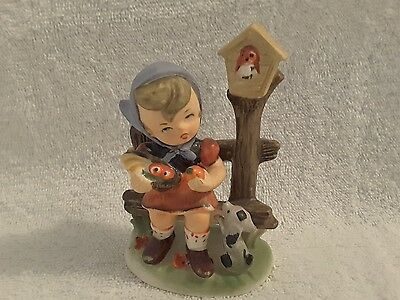 Girl on Fence China Ornament- Foreign