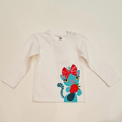 Baby Girl Cotton Long Sleeve White Basic Tee Size 6-9M/9-12M/12-18M/18-24M