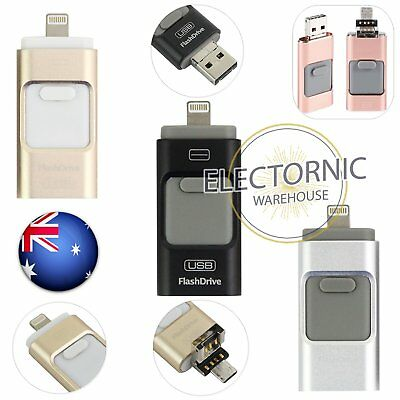 iPhone USB OTG IFlash Drive Disk Storage Memory Stick For Android iOS 32/64/128