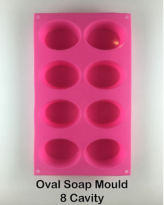 Oval Soap Mould (SILICONE) - 8 Cavity