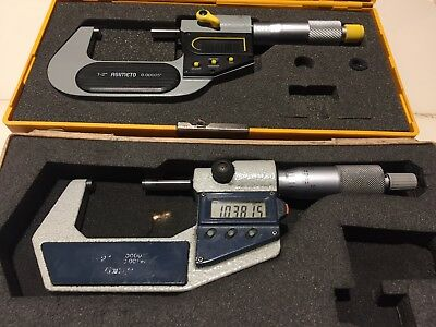 "(2) 1-2"" Digital Micrometers , Mitutoyo No. 293-722-30 And Asimeto"