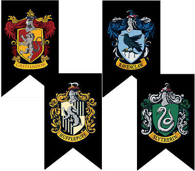 Gryffindor Slytherin Ravenclaw Hogwarts College Harry Potter House Banners Flag
